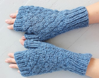 Knitting Patterns, Knitting Pattern, Fall Knit Gloves Pattern,  Fingerless Gloves Knitting Pattern, Wool Mittens Pattern