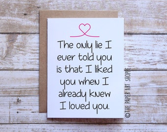 I love you card, Card for girlfriend, Card for boyfriend, Card for wife, Card for husband