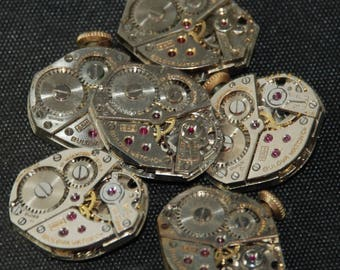 Vintage Watch Movements Parts Steampunk Altered Art Assemblage RT 61