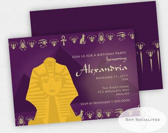 Egyptian Sphinx Invitation | Egyptian Invitation | Instant Download TEMPLATE | Editable Text PDF