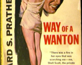 vintage paperback ... WAY of A WANTON a Shell Scott Book by Richard S Prather ...