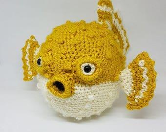 Handmade Crochet PufferFish