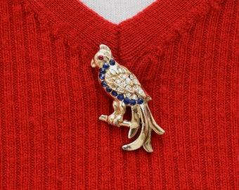 Rhinestone Bird Pin Vintage