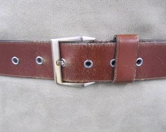 Top grain selected Steerhide  tan brown leather belt