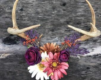 Spring Bloom Decorative Antlers