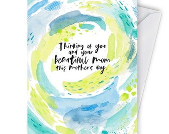 Honest Mother's Day Card- For a friend who's mother passed away- Greeting Cards