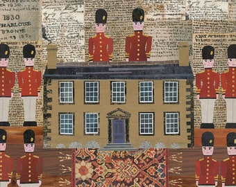 Bronte Sisters Greeting Card, Toy Soldiers, Collage, Bronte Parsonage, Branwell Bronte, Bookish, Jane Eyre, Childrens Games, Amanda White