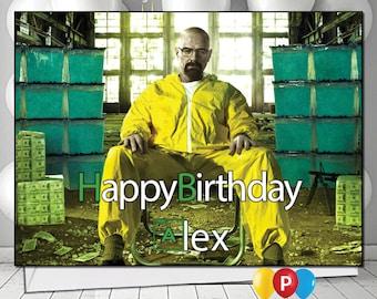 Personalised Braking Bad 3 Birthday Card