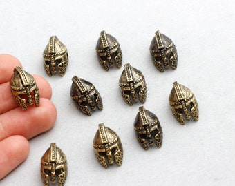 Antique Bronze Helmet Beads, Helmet Beads, Gladiator Helmet Beads,15/90Pieces, 18x11mm(Approz),sku/AK1