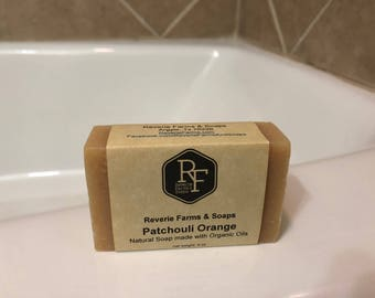 Patchouli Orange Bar Soap - Natural & Made with Organic Oils - Organic Soap - All Natural - Vegan Friendly - Cruelty Free