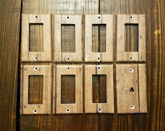 Rustic Barn Wood Light Switch And Other Style Covers | Faux Wood - Barn Wood Decor - Rustic Home Decor - Woodland Nursery - Farmhouse - Gift