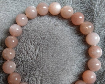 Sunstone 8mm bead crystal healing bracelet