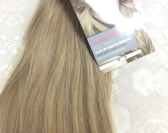 "Ash brown (18)  100% human hair clip in extensions   14""  18""  20"""