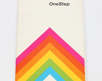 Polaroid One Step OneStep Rainbow Instant Film Land Camera Manual Guide Instructions English 1970s