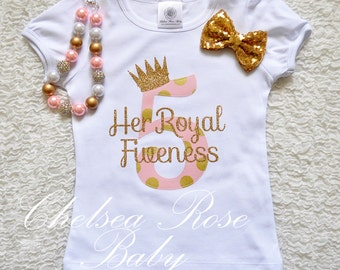 Pink and Gold Birthday shirt, Personalized Birthday shirt, Birthday outfit, Girls 5th Birthday Shirt, 5th Birthday outfit, Pink Gold