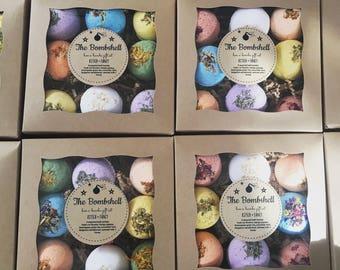The Bombshell Box: Bath Bomb Gift Set 9 assorted bath bombs