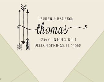 wedding Return Address Stamp  -custom  address stamp -custom family address stamps- Custom rubber stamp- Personalized Return Address Stamp