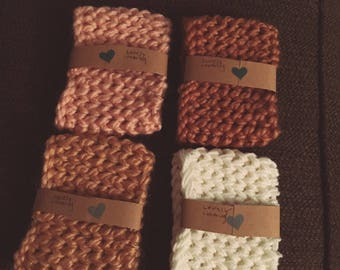 Knitted coffee cozys