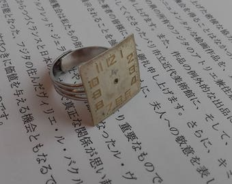 Ring created from vintage watch dial