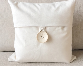 Home decor, decorative pillow cover, pillow covers, wooden button, home & living, housewarming gift, hostess gift, gift, nursery, baby gift