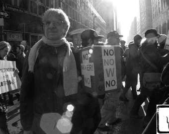 B&W #Photograph, #Resist, #womensmarch, New York, #nastywomen, #whyImarch, haiku, feminist, photo print, wall art, home decor, protest