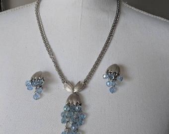 Blue Cha Cha Necklace & Earring Set