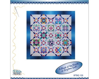 Block of the Month Quilt Pattern - Incandescence - Gelato Ombre fabrics by Maywood - Bound To Be Quilting - Pat Syta & Mimi Hollenbaugh - C