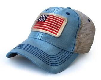 1812 USA Flag, Americana Blue