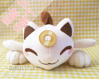 MADE TO ORDER Limited Edition Pokemon: Meowsy (baby Meowth) Art Plush
