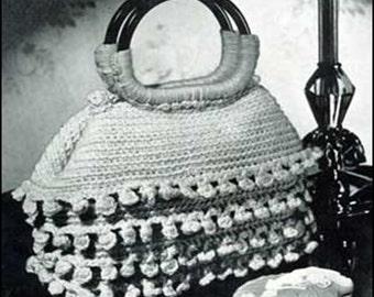 Set of Four Vintage Hand Bag Crochet PDF Patterns