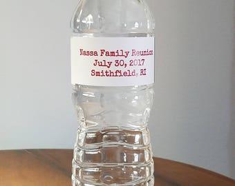 Water Bottle Labels (16.9oz.) - Custom Designed