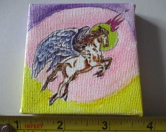 Pegasus on a Hand Painted Water Colour