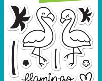 Lawn Fawn Flamingo Together Photopolymer Clear Stamp Set, Scrapbooking/Stamping/Paper Crafts