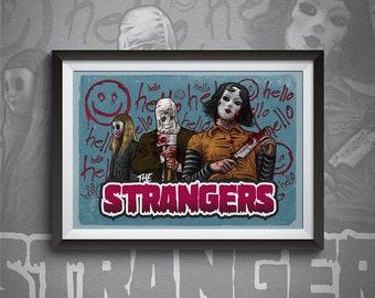 Horror Print, The Strangers, Slasher Film, Gore, Killers, Horror Movie, Pop Culture Art, Film Art, Print