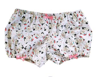 JULY PREORDER Lolita Bloomers kitties kittens retro pink lolita shorts cotton underwear lingerie drawers pajamas nightwear sleepwear