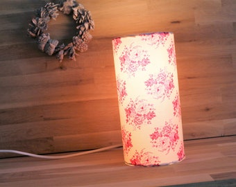 Flowers Pinks, deco charm lamp cylinder lamp for home room