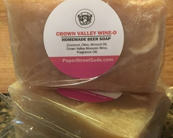 Crown Valley | White Wine Homemade Bar Soap | Chardonnay | Bachelorette | Moscato Scent | All Natural | Theme | Holiday | Variety Gift Her