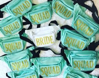 Fanny packs, Bachelorette parties, Bridesmaids, Bridal parties, Custom Design Fanny Pack. Monogram. Sorority. Big/Little. Bride Squad.