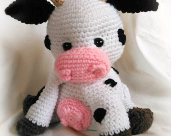 Amigurumi Patterns Cow : Pattern chloe the cow crochet cow pattern amigurumi cow