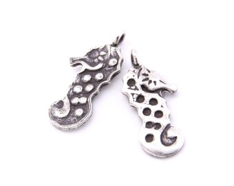 Thai Karen Hill Tribe Silver,Seahorse Shaped Karen Hill Tribe Handmade Charms,Charms,Karen Silver- KSC0102