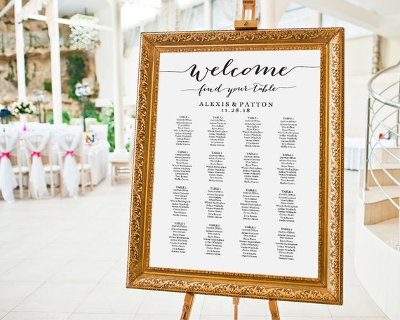 wedding seating chart seating chart poster seating chart