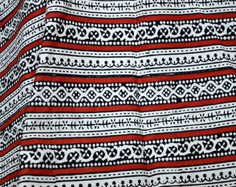 Hand Printed Fabric Block Print Fabric Boho Soft Cotton fabric by the yard, Indian Cotton Dress Fabric bohemian indian fabrics kid dress