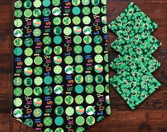 Luck of the Irish quilted snack mat and 4 quilted mug rugs