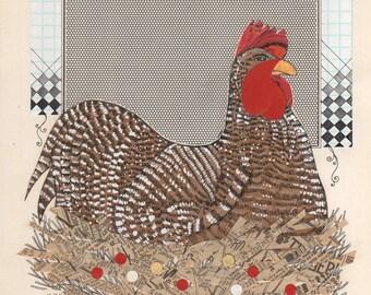 Big Chicken Laser Print