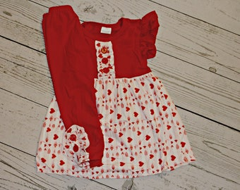 Red of Hearts Girls Valentine 2 pc. Set- SHIPS FREE!