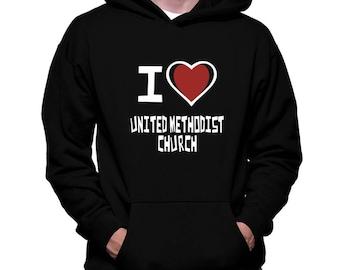 I Love United Methodist Church Hoodie