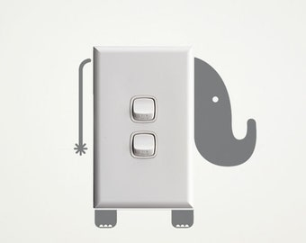 Elephant Wall Decal for Light Switches