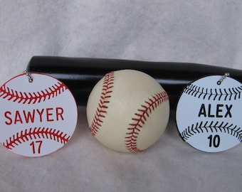 Baseball Team Gift / Personalized Baseball Gift / Baseball Bag Tags / Baseball Coaches Gift