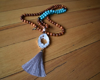 TURQUOISE MALA NECKLACE | Mala/Meditation/Yoga/Crystal/Necklace