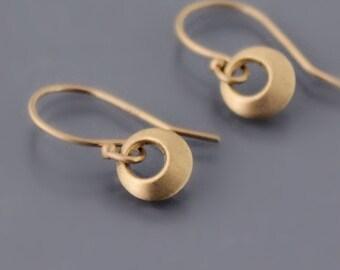Tiny 14K Gold Loop Earrings